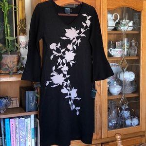 Sweater knit intarsia dress